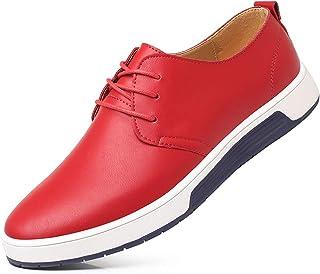 TAZAN Oxford Chaussures Formelles pour Hommes,en Cuir À Lacets Les Affaires Chaussures De Ville De Mariage Fête Bureau Res...