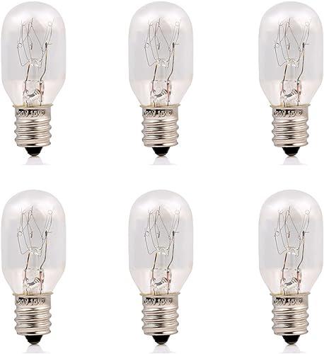 Parts Express 15Watt Himalayan Salt Lamp Bulbs 6Pack-E12 Socket Incandescent Bulbs