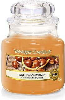 Yankee Candle bougie jarre parfumée, petite taille, Châtaignes dorées, Collection Farmers' Market