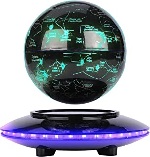 ZJchao Magnetisk Levitating Globe, Presentdekoration Flytande Levitating Globe, Magnetisk Levitating World Map Spheres Int...