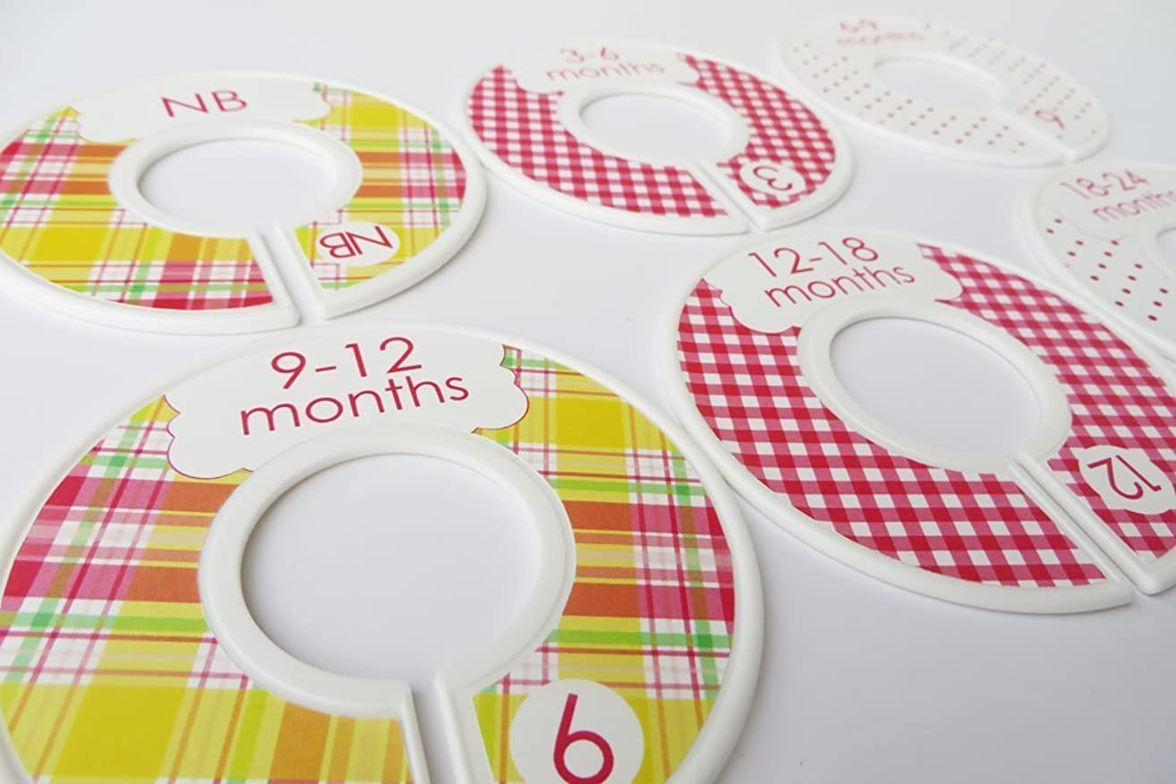 Pink and Yellow Baby Girl Closet Dividers, Girl Toddler Clothes Dividers, Girl Closet Organizer