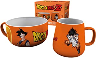 Dragonball Z Mug And Bowl Breakfast Set Goku Logo Official Orange