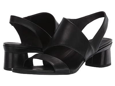 ECCO Elevate 45 Block Sandal (Black Cow Leather) Women