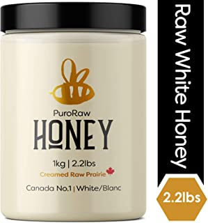 White Honey - Pure Unfiltered Raw Honey from the Canadian Prairies, 2.2 lbs (PuroRaw)