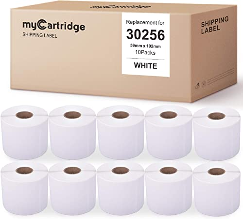 high quality myCartridge 10-Rolls Compatible with Dymo 30256 White Address Labels 2-5/16 Inch x 4 Inch 300 Labels/Roll Premium outlet sale Self-Adhesive for new arrival LabelWriter 450 Turbo 450 Duo 450 4XL sale