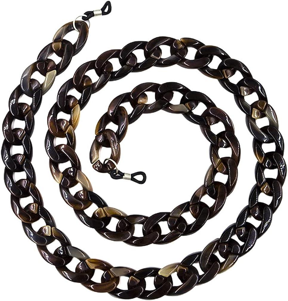 Healifty Eyeglass Chain Strap Cord Sunglass Holder Eyeglass Retainer Tortoise Shell Color