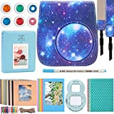 Katia Instant Camera Accessories for Fujifilm Instax Mini 9 Camera - Instax Mini 8 Camera Case Galaxy/Film Album/Selfie Lens/Filter/ Strap/Photo Frame/Stickers/ Hanging Frames - 9 in 1, Galaxy