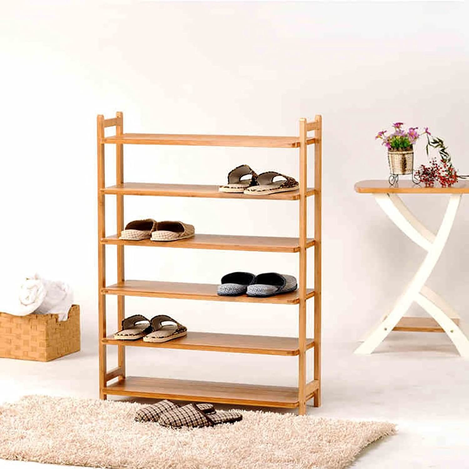 shoes Bench Organizing Rack shoes Racks Bamboo Bamboo shoes Racks Multi - Purpose Shelves Creative Storage shoes Rack Living Room Bedroom Finishing Rack