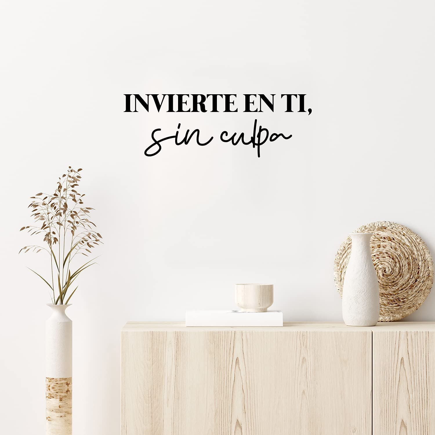 Vinyl Wall Art Decal - Invierte En Ti, Sin Culpa / Invest in You, Without Guilt - 8.5
