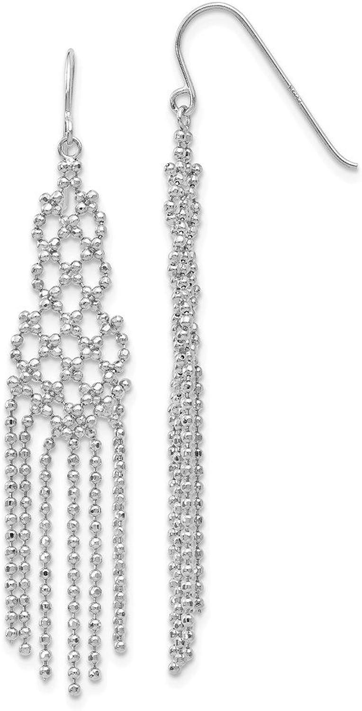 Beautiful White gold 14K Whitegold 14K WG Beaded Earrings