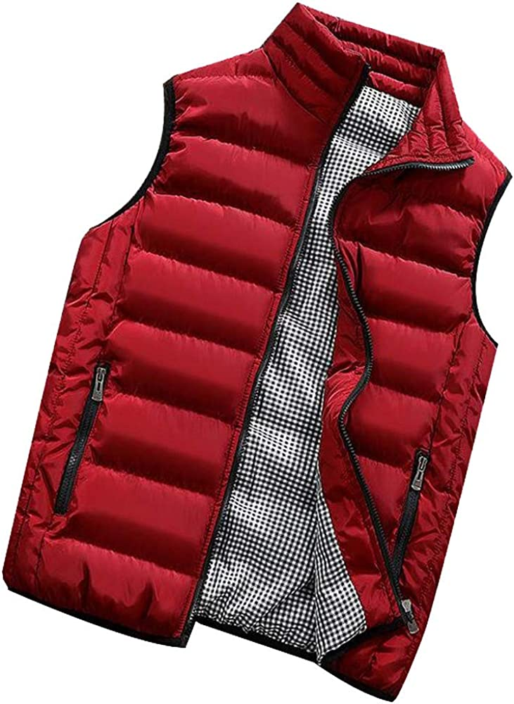 Men Winter Warm Puffer Vest Col Outdoor Padded Genuine Cotton Stand Inexpensive