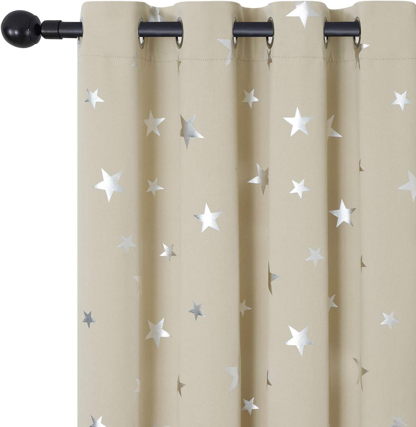 Estelar Textiler Inexpensive Cheap Star Print Drapes Geometric Gro for Living Room