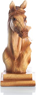 Slifka Sales Co. Small Horse Head Bust Natural Brown 4 x 2 Resin Stone Collectible Figurine