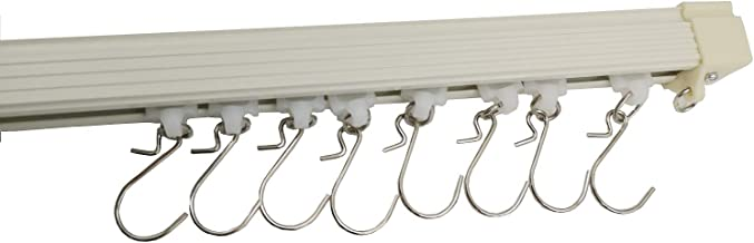 VRSS Aluminum Straight Ceiling Track Curtain Track Top Mounting Set 1 Meter/3.2 Feet Length (1 Meter Track)