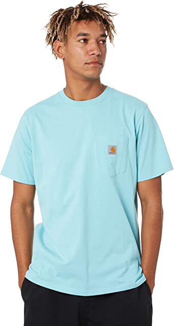 Carhartt Camiseta Hombre Pocket Turquesa x-Small Turquesa ...