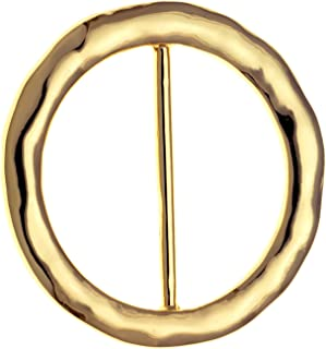 PammyJ Hammered Round Scarf Ring