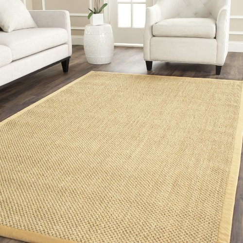 Safavieh Natural Fiber Collection NF443A Tiger Eye Maize and Wheat Sisal Area Rug (10' x 14') 10' Seagrass Area Rug