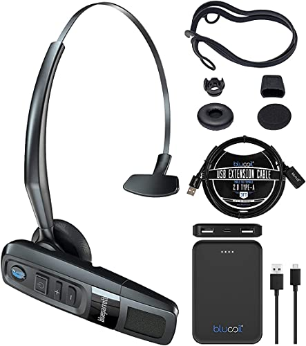 new arrival BlueParrott C300-XT Noise new arrival Canceling Bluetooth Headset - Hands-Free Wireless Headset for iOS and Android Bundle with Blucoil 5000mAh Portable outlet online sale Power Bank, and 3-FT USB 2.0 Type-A Extension Cable outlet sale