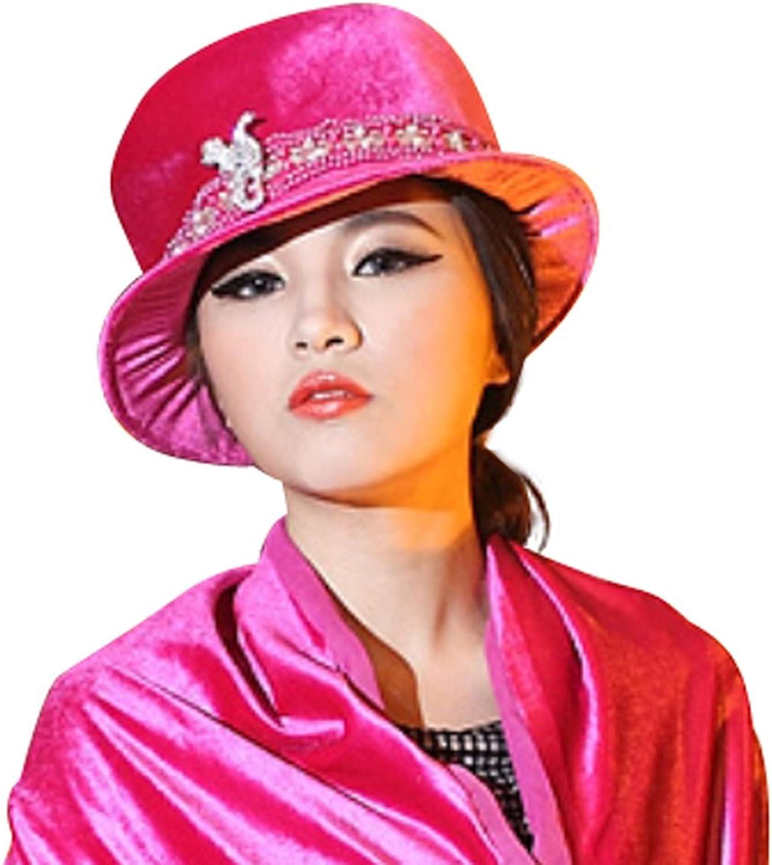 June's young 2014 velvet hat romantic elegant top hat warm hat with winter