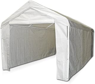 Domain Caravan Canopy 10' X 20 Carport Garage with Sidewall Enclosure Kit