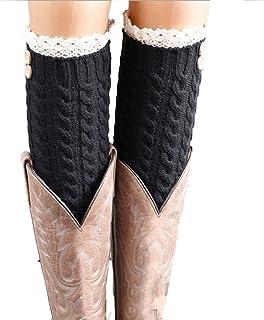 Calcetines, Moda de Las Mujeres Populares s Caliente del Invierno de Lana Suave del cordón de la torcedura Hecha Punto de Arranque Calentadores de la Pierna Calcetines