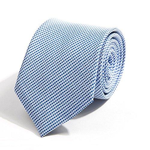 ZSRHH-Neckchiefs Halstücher Männer Krawatte Hellblaue Krawatte Polyester Jacquard Weavefor Office Party