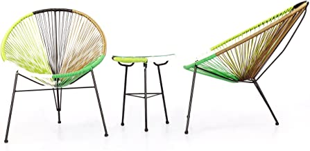Kardiel 3 Piece Outdoor Acapulco Chairs & Table