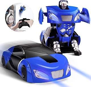 PROJIA ラジコン 2 IN 1 当店オリジナル 変形ロボット+壁・天井・床を激走! スーパーカー型 ラジコン カー おもちゃ車 新感覚 RC カー 小型 LED搭載 リモコンカー ウォールラウンダー WALL ROUNDER 吸着 簡単操作 ラジコンカー プレゼント クリスマス 趣味