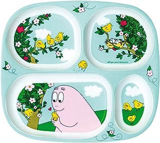 Petit Jour Paris Barbapapa Natur Teller aus Melamin 20 cm Kinderteller Melaminteller Plastik Babyteller Kindergeschirr bunt BPA frei