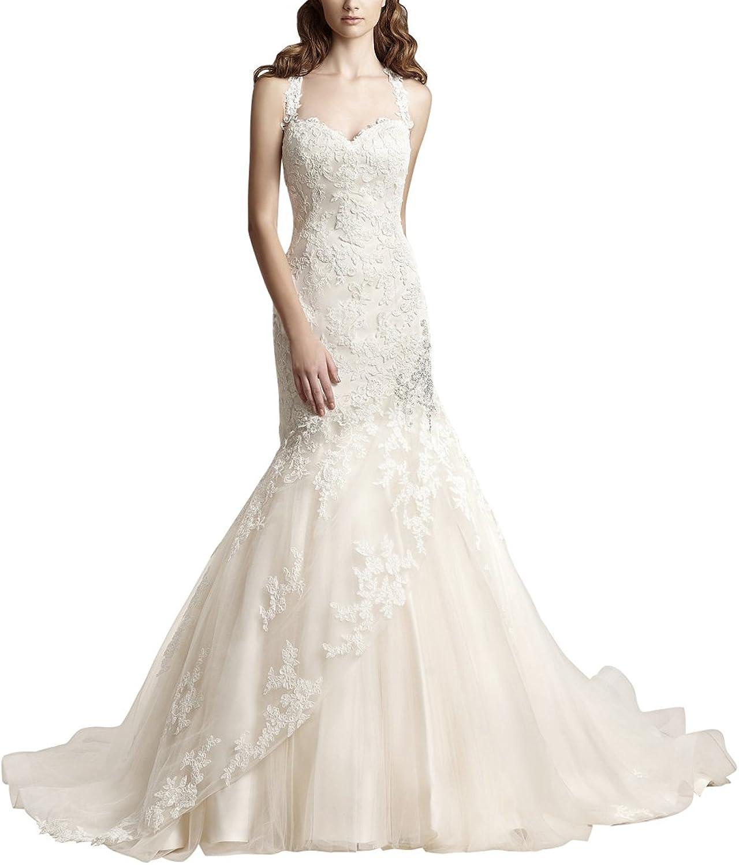 Wedding Dress For Bride Elegant Tulle Lace Applique Cheap Wedding Bridal Dress