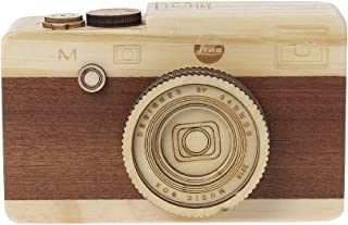 ballboU Wooden Music Box with Retro Camera Design for Birthday Gift