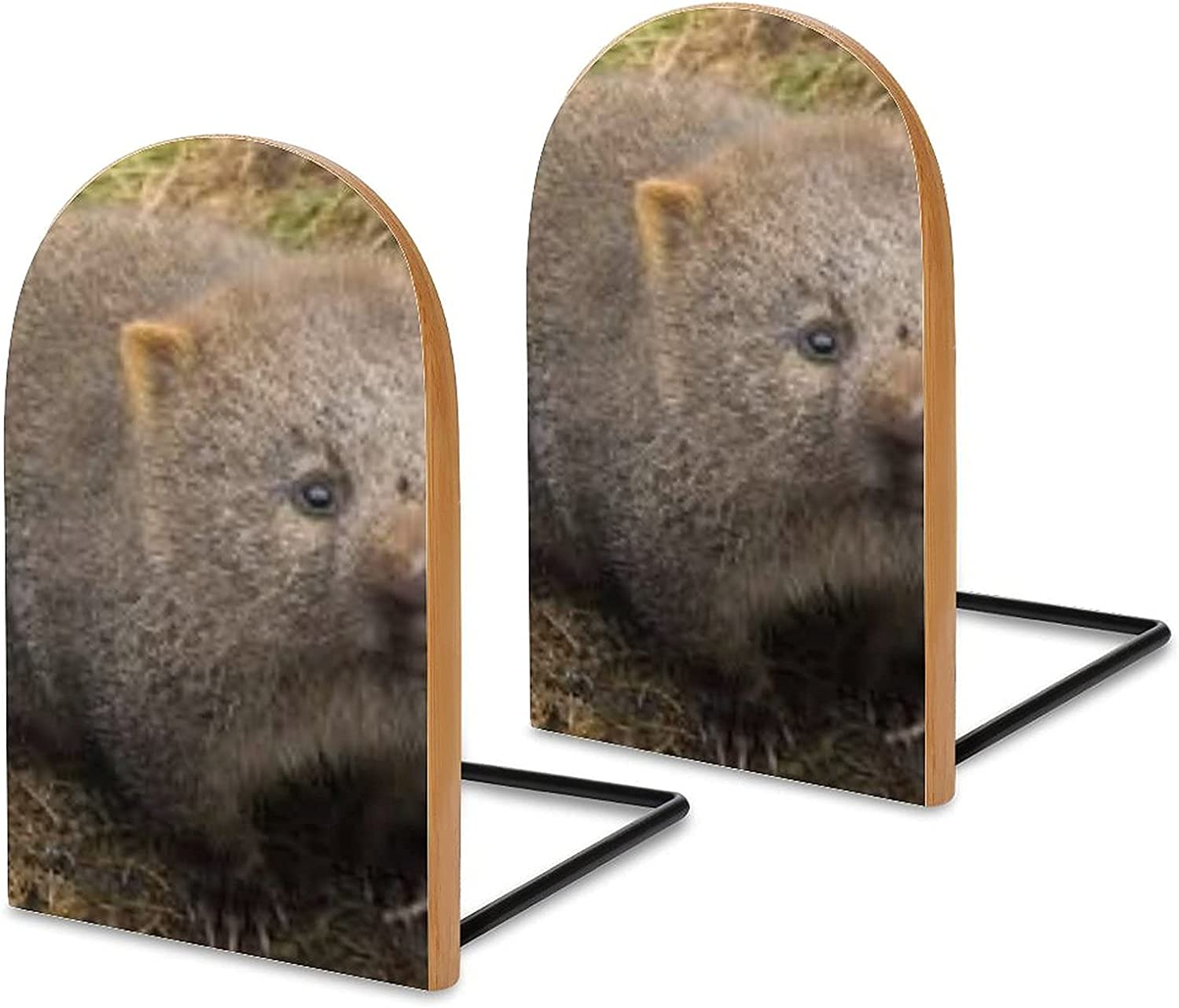 Wood Bookends Pack of 2 Cradle Mountain Surprise trend rank price Non Skid Wombat Land