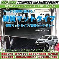 【硬質マットタイプ/防滑シードグレー】NV200 バネットバン ベッドキット DX/VX/GX 二列目6:4分割シート車用 傷に強い Field Strike