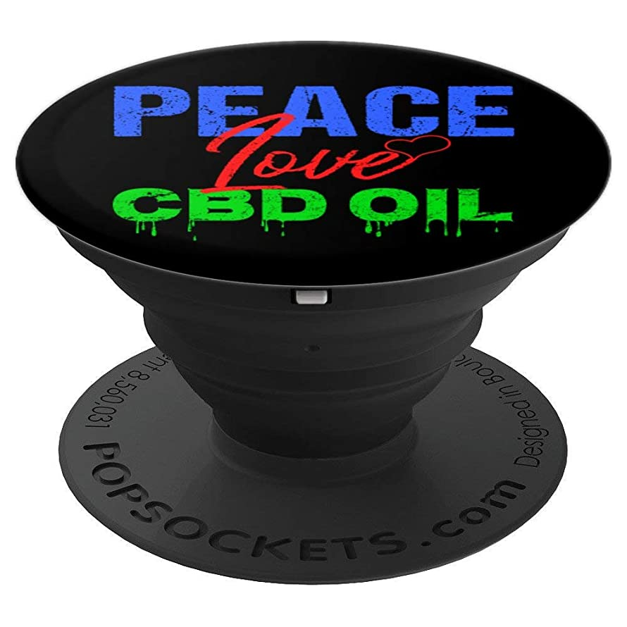 Peace Lover CBD Oil | Hemp Product Gift for Men and Women PopSockets Grip and Stand for Phones and Tablets
