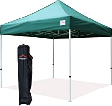 UNIQUECANOPY 10'x10' Ez Pop Up Canopy Tent Commercial Instant Shelter, with Heavy Duty Roller Bag, 10x10 FT Dark Green