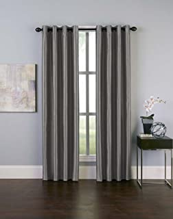 Curtainworks Malta Faux Silk Grommet Curtain Panel, 50 by 132