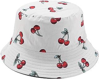 BASIC MODEL Unisex Fruit Printed Bucket Hat Fisherman Cap Summer Packable Reversible Sun Hat