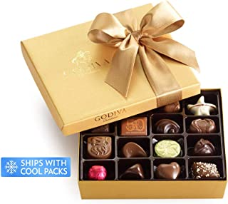 Godiva Chocolatier Classic Gold Ballotin Chocolate, Perfect Hostess Gift, Gifts for Her, Mothers Day Gift, Chocolate Lovers, 19 Count
