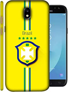 Colorking Samsung J7 Pro 2017 Football Yellow Case Shell Cover - Fifa Brazil 01