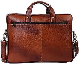 Leather Messenger Briefcase Laptop Bag - 16 Inch Handmade For Men & Women Cross Over Shoulder Strap - Travel Business Offi...