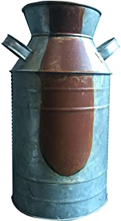 CWI Gifts Milk Can, Galvanized Finish – Country Rustic Primitive Jug Vase by H.S,..