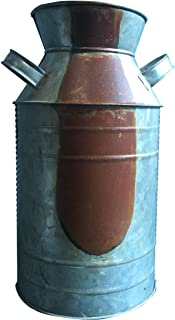 CWI Gifts Milk Can, Galvanized Finish - Country Rustic Primitive Jug Vase by H.S, 10-3/4