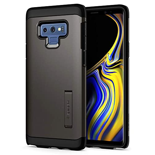 Spigen [Tough Armor] Galaxy Note 9 Case with Kickstand and Extreme Heavy Duty Protection and Air Cushion Technology for Galaxy Note 9 (2018) - Gunmetal