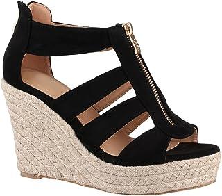 nouveau style ad13f b83a3 Amazon.fr : Chaussures Talons Compenses