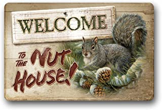 NFfreeL Welcome to The Nut House Door Mats Doormat Inside/Outside Bathroom Living Room Kitchen Rugs Home Decor 23.6x15.7