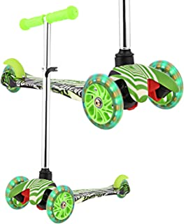 WeSkate Scooters for Kids with PU Flashing Wheels, 3 Levels Adjustable Height, Kick Scooters for Boys and Girls, Rear Fender Break|5lb Lightweight Kids Scooter, 110lb Weight Capacity