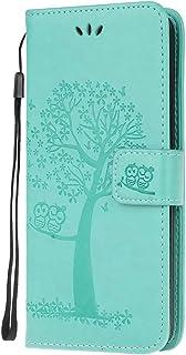 Samsung Galaxy A13 5G etui, odporne na wstrząsy skóra PU etui z klapką na telefon wytłaczana sowa drzewo miękkie TPU zderz...