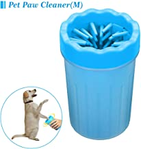 QITONG Dog Paw Cleaner, Portable Pet Paw Cleaner Puppy Paw Cleaner Brush Cup Dog Foot Washer with Comfortable Silicone Bristles for Dogs Medium,Puppy,Cats Grooming with Muddy Paw