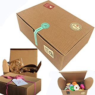 Chilly Treat Gift Boxes, Set of 10 Bakery Boxes Decorative Cupcake Cookies Chocolate Boxes, 37 Stickers Included