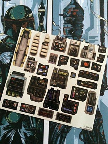 Star Wars Vintage Custom Repro troquelado pegatinas calcomanías etiquetas Legacy Collection Millennium Falcon 2008